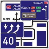 Virzienu rādītāji un informācijas zīmes