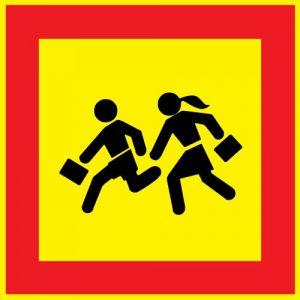 Bērnu grupa - transportlīdzekļu pazīšanas zīme