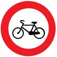ceļa zīme Nr. 305 Velosipēdiem braukt aizliegts