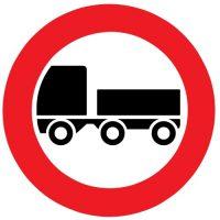 Ceļa zīme - Nr. 307 Ar piekabi braukt aizliegts