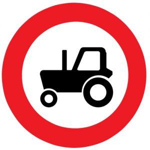 Ceļa zīme - Nr. 308 Traktoriem braukt aizliegts
