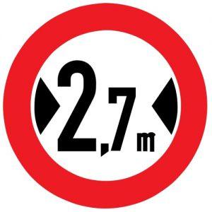 Ceļa zīme - Nr. 310 Platuma ierobežojums