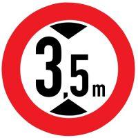 Ceļa zīme - Nr. 311 Augstuma ierobežojums