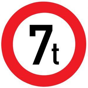Ceļa zīme - Nr. 312 Masas ierobežojums