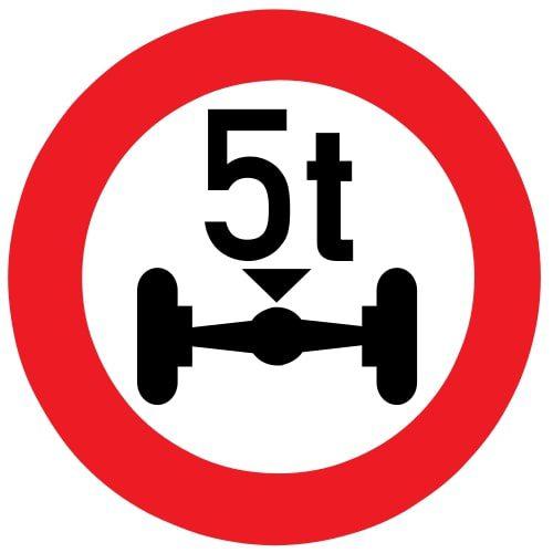 Ceļa zīme - Nr. 313 Ass slodzes ierobežojums