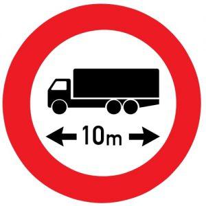 Ceļa zīme - Nr. 314 Garuma ierobežojums