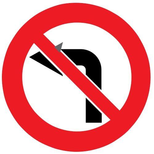 Ceļa zīme - Nr. 316 Nogriezties pa kreisi aizliegts