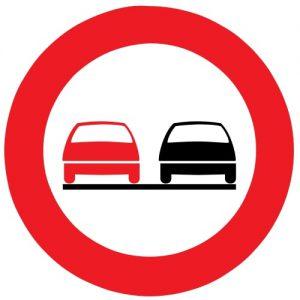 Ceļa zīme - Nr. 319 Apdzīt aizliegts