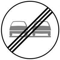 Ceļa zīme - Nr. 320 Apdzīšanas aizliegums beidzas