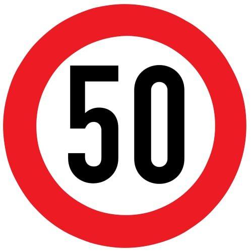 Ceļa zīme - Nr. 323 Maksimālā ātruma ierobežojums