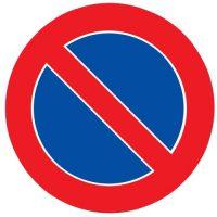 Ceļa zīme - Nr. 327 Stāvēt aizliegts