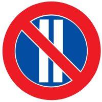 Ceļa zīme - Nr. 329 Pāra datumos stāvēt aizliegts