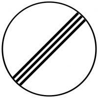 Ceļa zīme - Nr. 330 Visi ierobežojumi beidzas