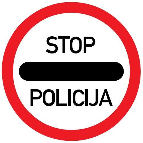 Ceļa zīme - Nr. 332 Policija
