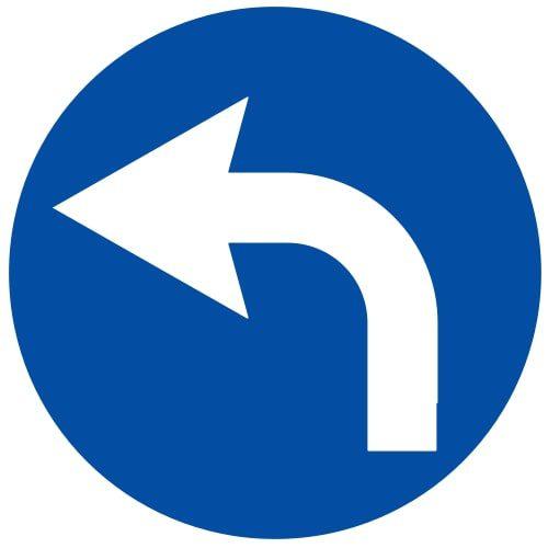 Ceļa zīme - Nr. 403 Braukt pa kreisi