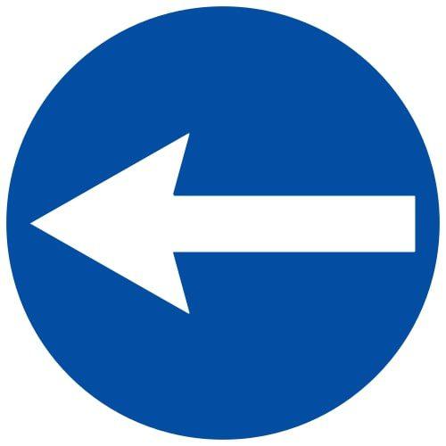 Ceļa zīme - Nr. 408 Braukt pa kreisi