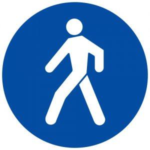 Ceļa zīme - Nr. 415 Gājēju ceļš