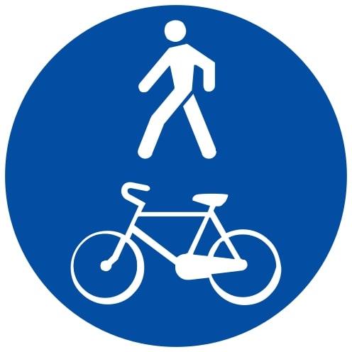 Ceļa zīme - Nr. 417 Kopīgs gājēju un velosipēdu ceļš