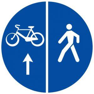 Ceļa zīme - Nr. 419 Gājēju un velosipēdu ceļš