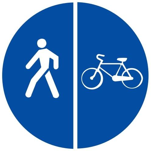 Ceļa zīme - Nr. 421 Gājēju un velosipēdu ceļš