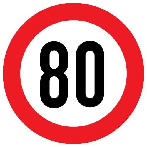 Ātruma ierobežojums - transportlīdzekļu pazīšanas zīme