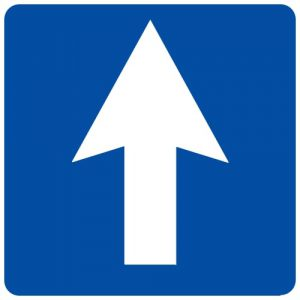 Ceļa zīme - Nr. 501 Vienvirziena ceļš