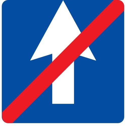 Ceļa zīme - Nr. 502 Vienvirziena ceļa beigas