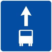 Ceļa zīme - Nr. 505 Josla pasažieru sabiedriskajiem transportlīdzekļiem