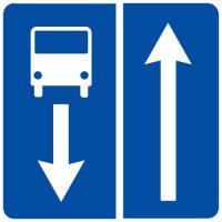 Ceļa zīme - Nr. 507 Ceļš ar joslu pasažieru sabiedriskajiem transportlīdzekļiem