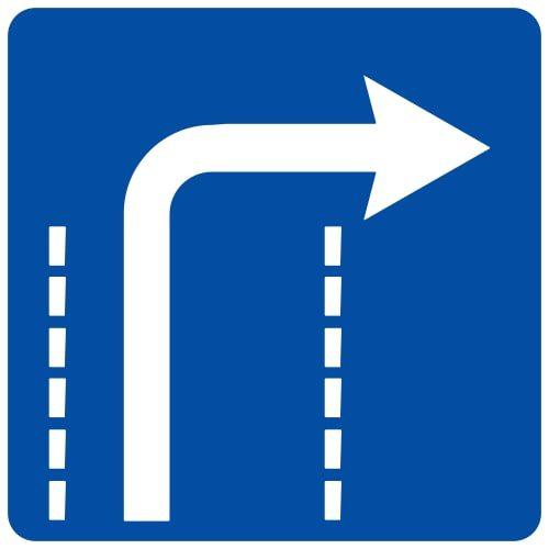 Ceļa zīme - Nr. 515 Braukšanas virziens joslā