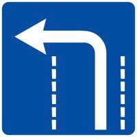 Ceļa zīme - Nr. 516 Braukšanas virziens joslā