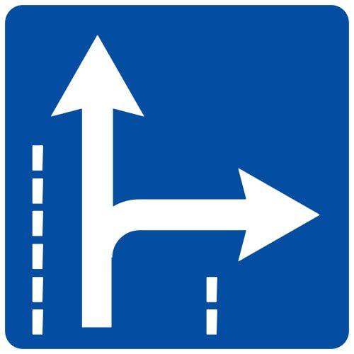 Ceļa zīme - Nr. 517 Braukšanas virzieni joslā