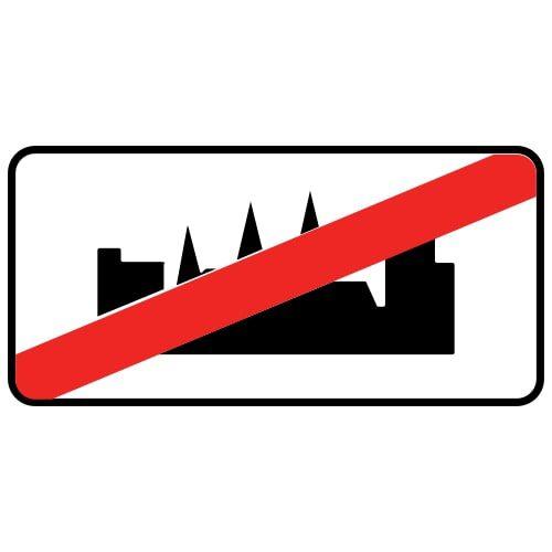 Ceļa zīme - Nr. 520 Apdzīvotas vietas beigas