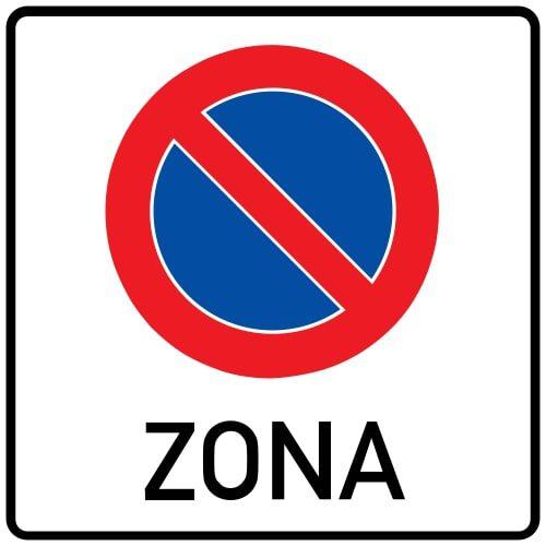 Ceļa zīme - Nr. 523 Stāvēšanas aizlieguma zona