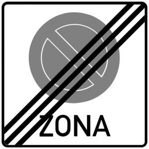 Ceļa zīme - Nr. 524 Stāvēšanas aizlieguma zonas beigas