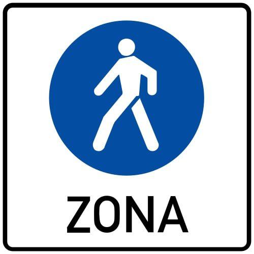 Ceļa zīme - Nr. 527 Gājēju ceļu zona