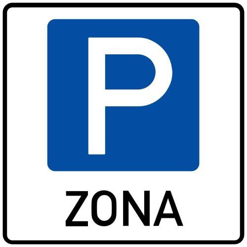 Ceļa zīme - Nr. 529 Stāvvietu zona