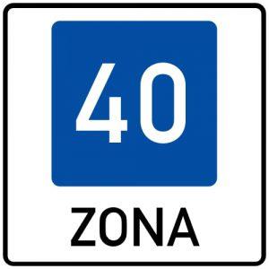 Ceļa zīme - Nr. 531 Ieteicamā ātruma zona