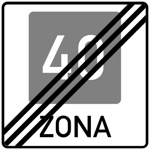 Ceļa zīme - Nr. 532 Ieteicamā ātruma zonas beigas