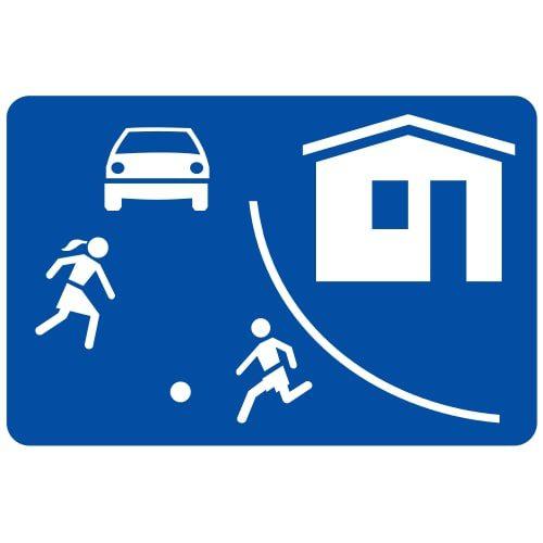 Ceļa zīme - Nr. 533 Dzīvojamā zona