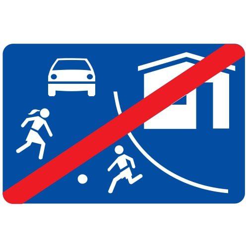 Ceļa zīme - Nr. 534 Dzīvojamās zonas beigas