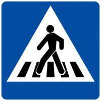 Ceļa zīme - Nr. 535 Gājēju pāreja