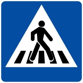 Ceļa zīme - Nr. 536 Gājēju pāreja