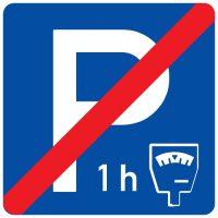 Ceļa zīme - Nr. 540 Maksas stāvvietas beigas