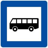 Ceļa zīme - Nr. 541 Autobusa un trolejbusa pietura