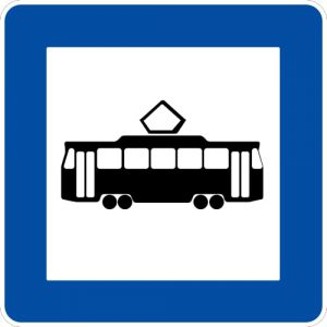 Ceļa zīme - Nr. 542 Tramvaja pietura