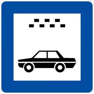 Ceļa zīme - Nr. 543 Vieglo taksometru stāvvieta