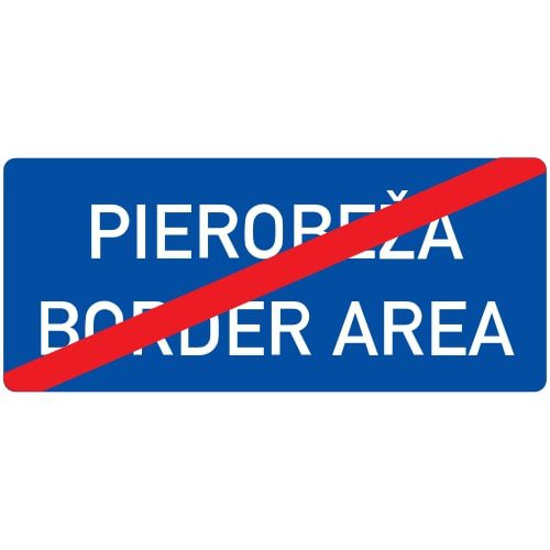 Ceļa zīme - Nr. 548 Pierobežas beigas