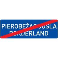 Ceļa zīme - Nr. 550 Pierobežas joslas beigas