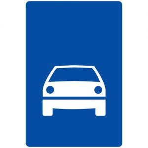 Ceļa zīme - Nr. 552 Ātrgaitas ceļš
